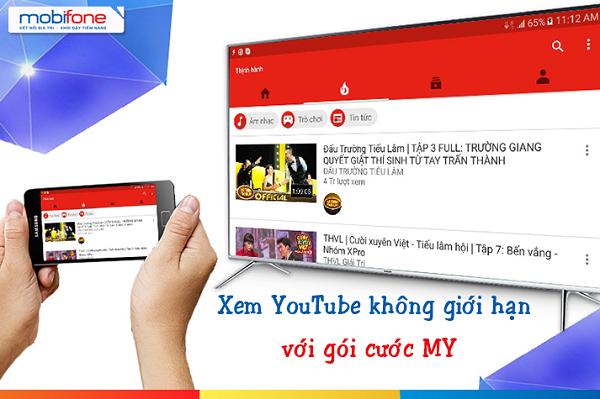 Hướng dẫn đăng kí gói MY mobifone trải nghiệm youtube tối đa