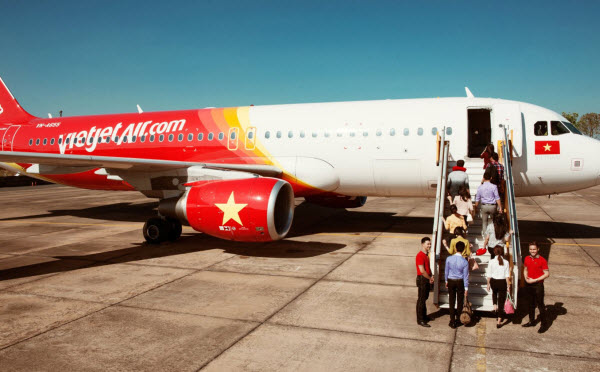 Giá vé máy bay hãng Vietjet Air trong nội địa