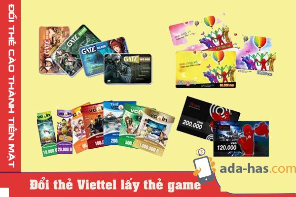 Địa chỉ đổi thẻ viettel lấy thẻ game uy tín chất lượng