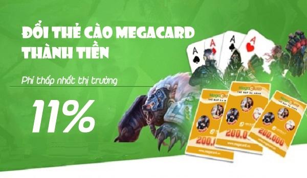 Hướng dẫn nhanh cách đổi thẻ cào Megacard thành tiền mặt