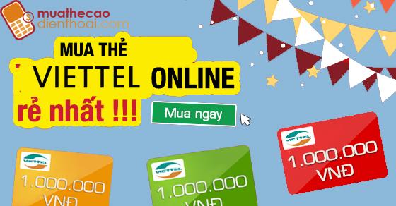 Mua thẻ Viettel online từ thẻ game