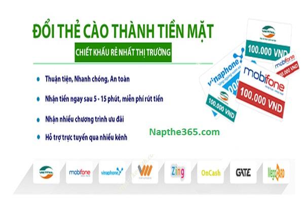 Website cung cấp dịch vụ đổi thẻ cào thành tiền mặt uy tín nhất thị trường