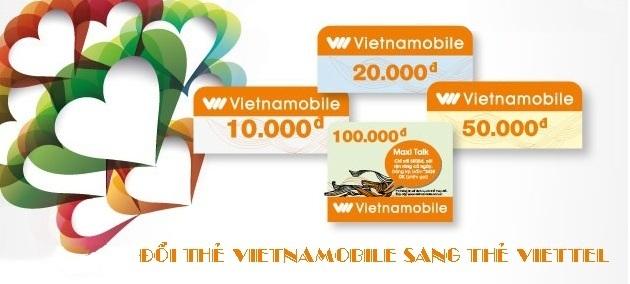 Làm sao để đổi thẻ điện thoại Vietnamobile sang thẻ Viettel?