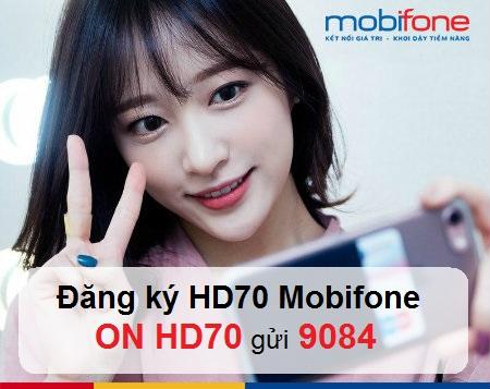 Hướng dẫn nhanh cách đăng kí gói cước 4G HD70 Mobifone