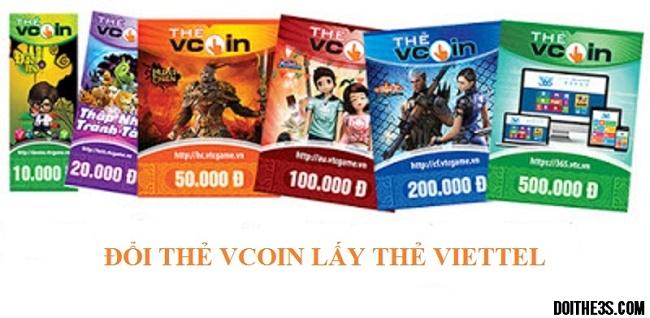 Đổi thẻ Vcoin lấy thẻ Viettel ở đâu làm được ?