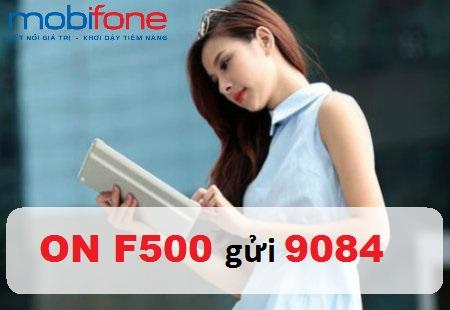 Hướng dẫn nhanh chóng cách đăng kí gói cước F500 Mobifone