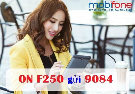 Hướng dẫn cách đăng kí gói cước F250 mobifone nhận ngay 18GB