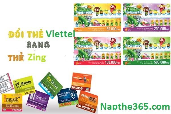 Đổi thẻ Viettel sang thẻ Zing nhanh chóng, tiện lợi nhất