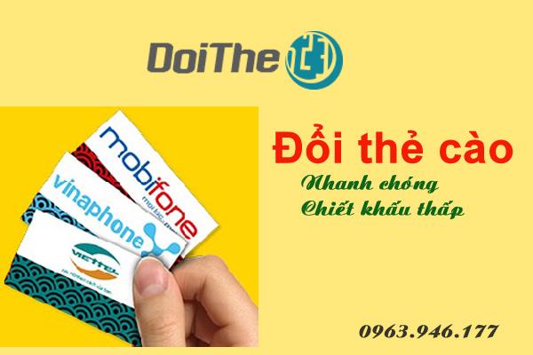 Những loại thẻ cào đổi sang tiền mặt tại doithe123.com
