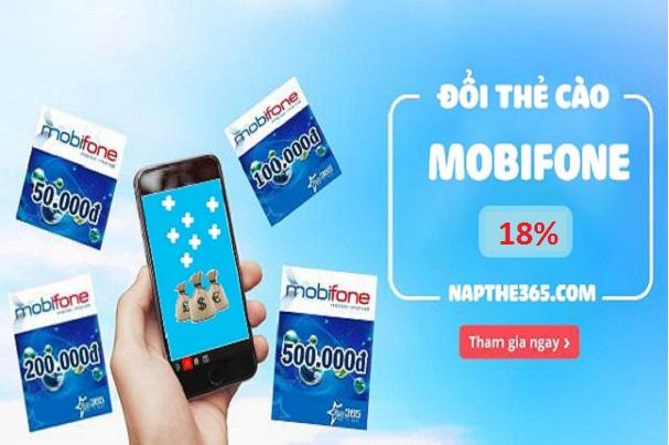 Đổi thẻ điện thoại Mobifone thành tiền nhận chiết khấu khủng 82%