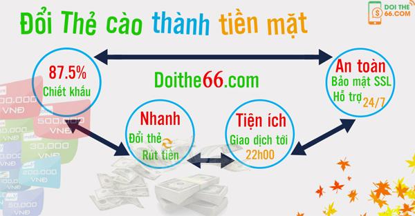 Tại sao nên sử dụng dịch vụ đổi thẻ cào thành tiền mặt của doithe66.com