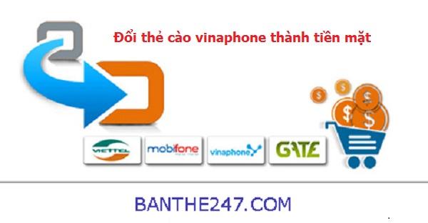 Hướng dẫn cách đổi thẻ cào vinaphone thành tiền mặt tại banthe247.com