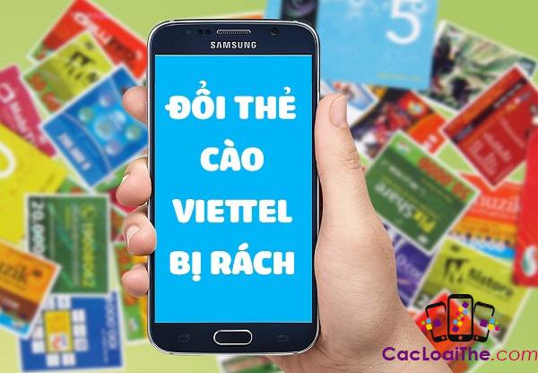 Cách đổi thẻ điện thoại Viettel bị rách thành tiền mặt