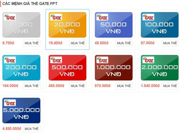 Thẻ Megacard và thẻ Gate, cách đổi thẻ thần tốc sang tiền mặt