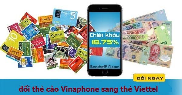 Bật mí cách đổi thẻ cào vinaphone sang thẻ viettel