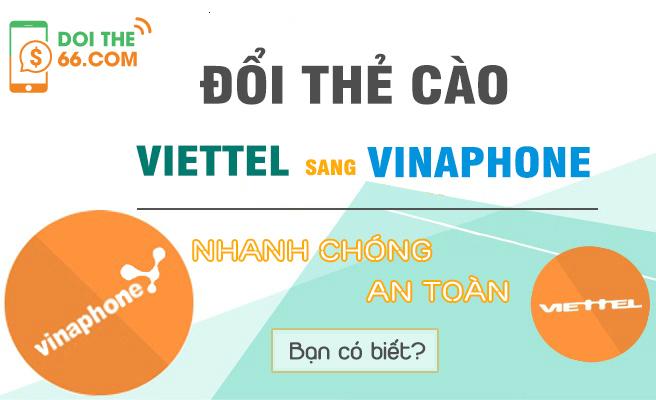 Cách đổi thẻ Viettel mua nhầm thành thành thẻ Vinaphone đơn giản nhất.