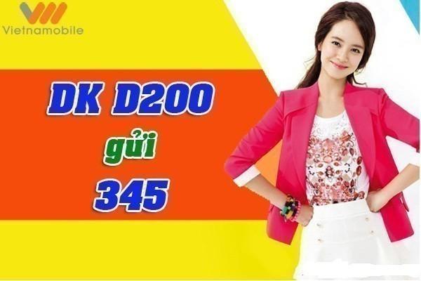 Thông tin chi tiết về gói cước 3G D200 Vietnamobile trả trước