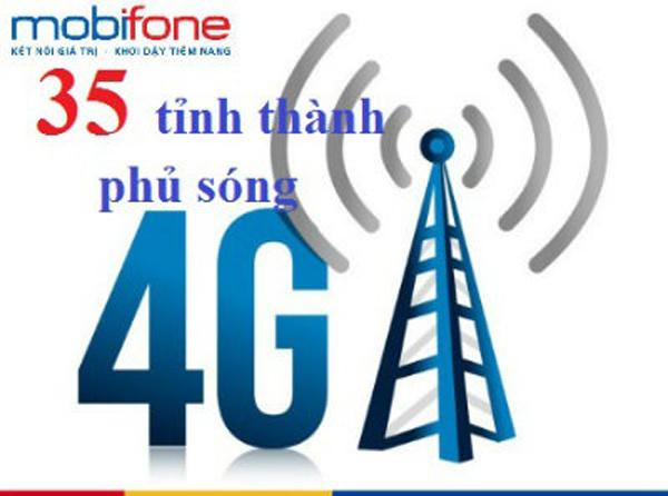 Các tỉnh thành phủ sóng mạng 4G Mobifone mới nhất