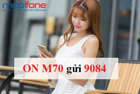 Hướng dẫn cách đăng kí gói M70 mobifone nhận ngay 1.6GB