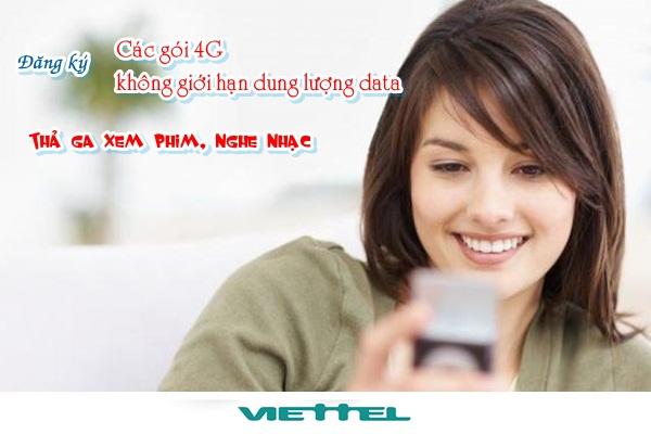 Chi tiết về các gói cước 4G Viettel cần nhớ năm 2017
