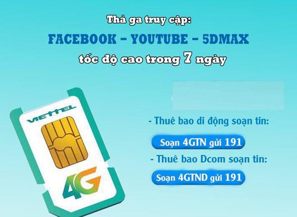 Trải nghiệm 4G Viettel miễn phí trong 7 ngày