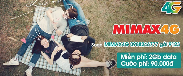 Cách đăng ký gói Mimax4G Viettel trọn gói chỉ 90.000đ tháng