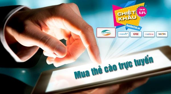 Hướng dẫn mua thẻ điện thoại trực tuyến trên website banthe24h.vn