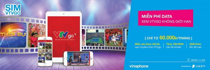 Sim VinaPhone VTVGo - Xem truyền hình trên di động dễ dàng nhất