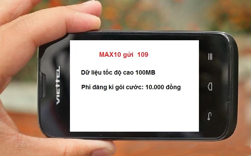 Hướng dẫn chi tiết cách đăng kí gói Max10 Viettel