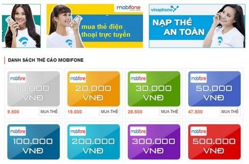 Hướng dẫn mua thẻ điện thoại trực tuyến mobifone tại banthe24h