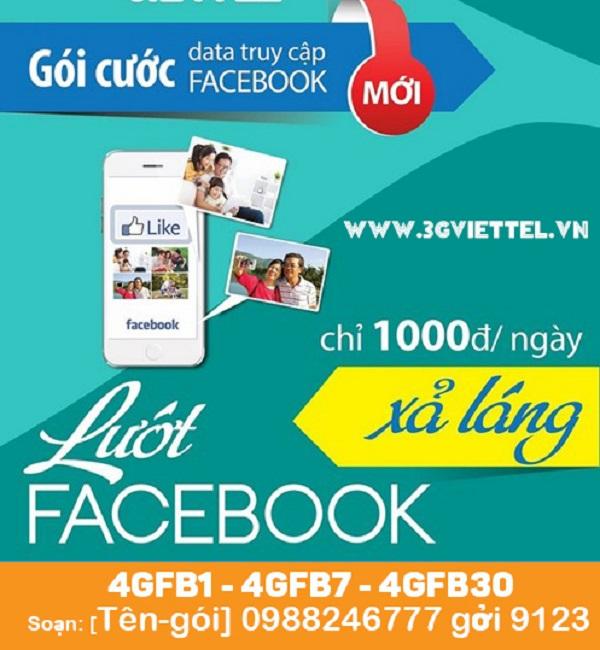"""Lướt Facebook """"siêu tốc"""" mỗi ngày với gói cước 4GFB Viettel"""