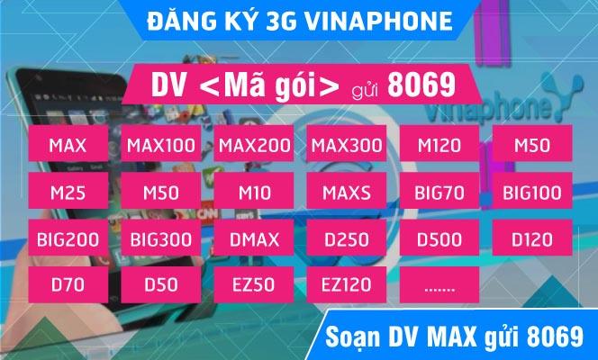 Hướng dẫn đăng ký gói cước 3G Vinaphone nhận data khủng 2017
