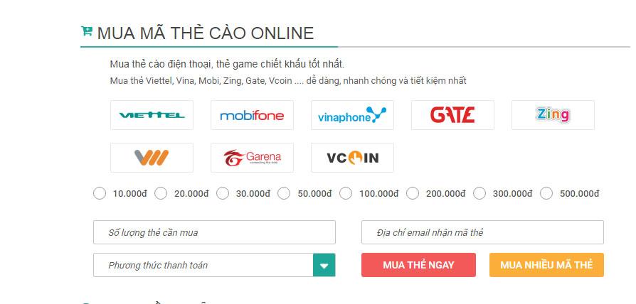 Tất tần tật những gì bạn cần biết về mua thẻ cào online
