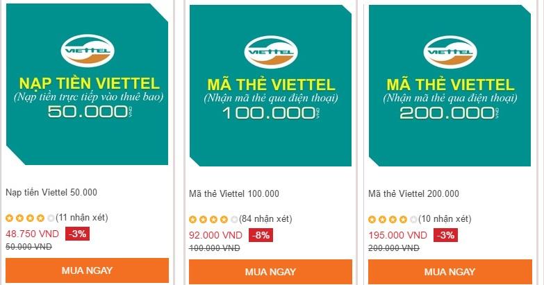 Bạn có nên mua thẻ cào Viettel online không ?