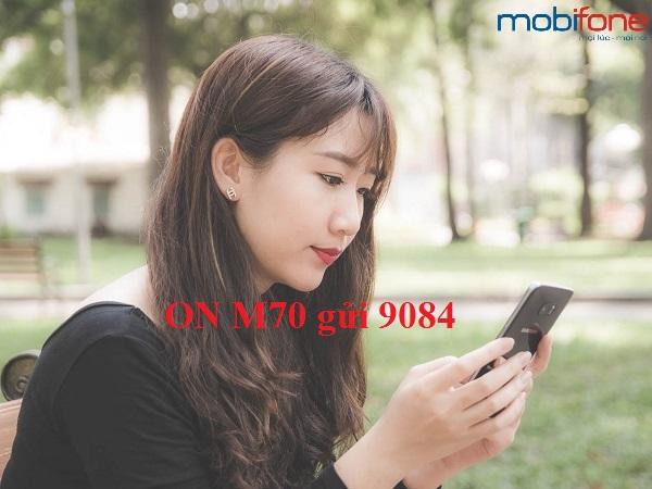 Nhận ngay 1,6GB miễn phí khi đăng kí gói M70 Mobifone