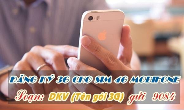 Sim 4G Mobifone có đăng ký được các gói 3G không?