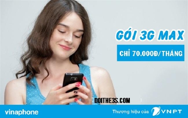 Tổng hợp các gói cước 3G Vinaphone giá 70k