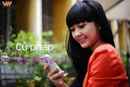 Đăng ký ngay gói cước 3G D125 Vietnamobile để hưởng 3GB ưu đãi hấp dẫn!