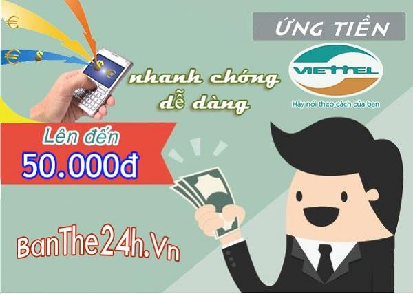 Hướng dẫn cách ứng tiền Viettel nhanh nhất