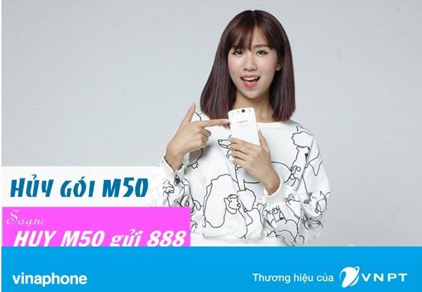 Hướng dẫn cách hủy gói cước M50 Vinaphone nhanh nhất