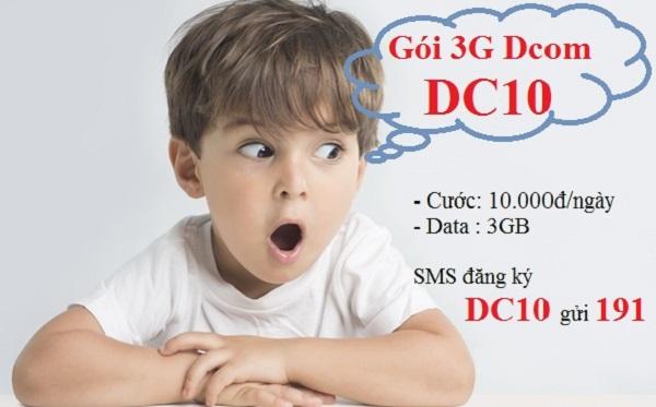 Cú pháp đăng ký gói cước DC10 Viettel giá rẻ cho sim Dcom