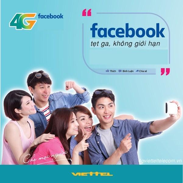 Sử dụng Facebook tẹt ga với gói 4G Facebook Viettel