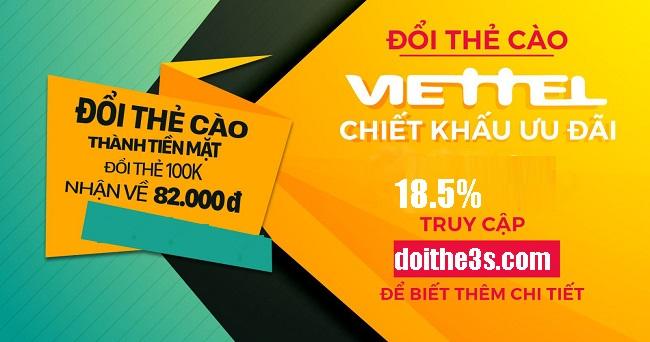Hướng dẫn đổi thẻ cào Viettel sang tiền mặt nhanh