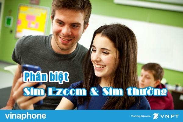 Sự khác biệt giữa sim thường và sim eZcom của vinaphone