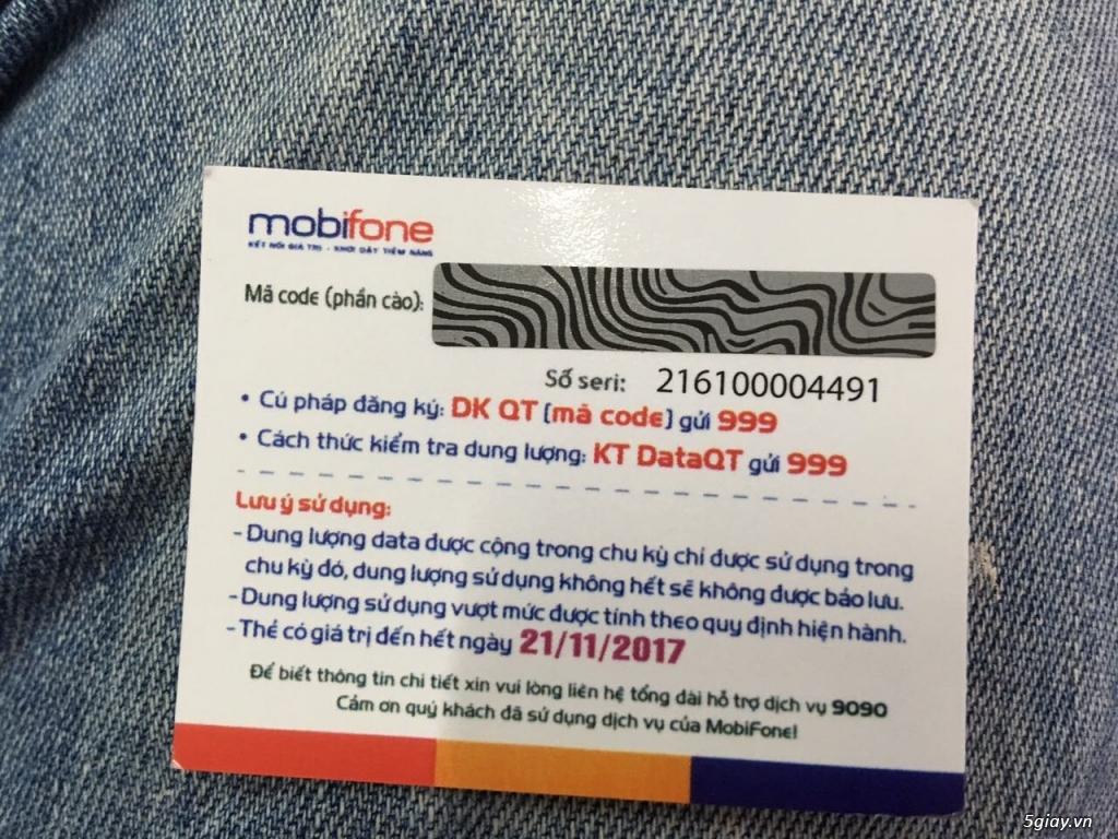 Các mệnh giá thẻ cào Mobifone