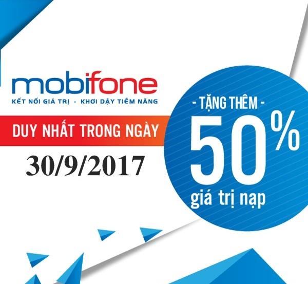 Mobifone khuyến mãi khủng chỉ một ngày 30/9