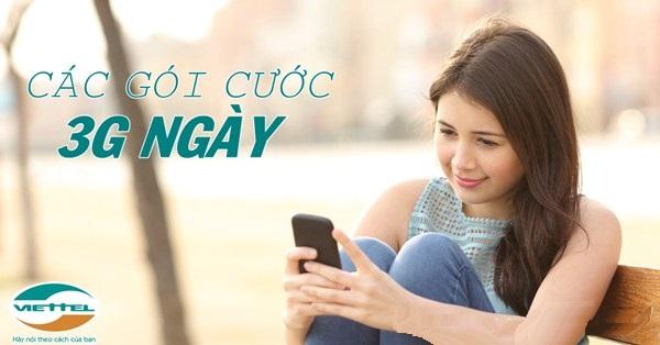 Hướng dẫn cách đăng kí các gói cước 3G 1 ngày viettel ưu đãi nhất