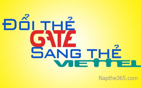 Cách đổi thẻ Gate sang thẻ Viettel nhanh nhất
