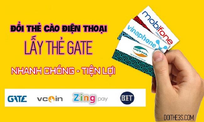 Hướng dẫn đổi thẻ cào điện thoại lấy thẻ gate