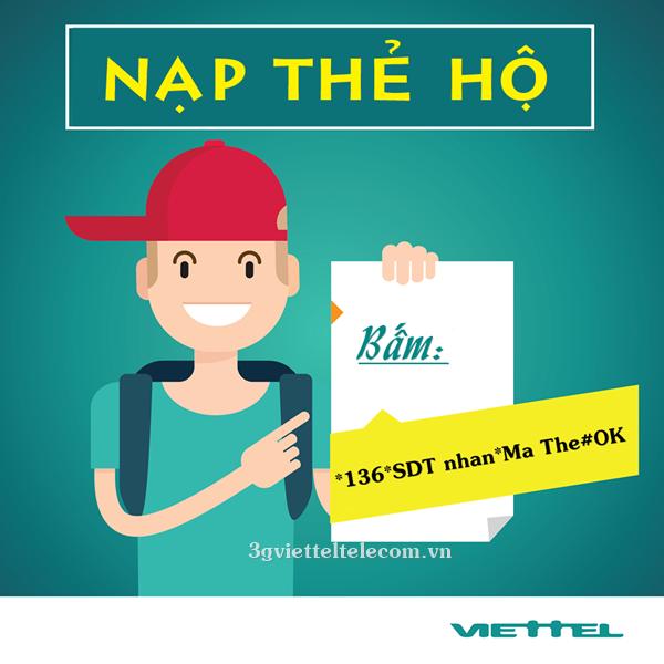 Bạn đã biết cách nạp tiền điện thoại Viettel cho thuê bao khác ?